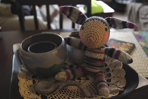 sock wool bunny