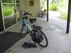 My comfort bike with grocery bag pannier