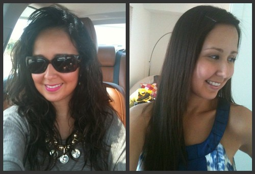 brazilian blowout before and after curly
