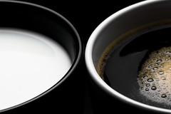 black & white #2 (daitoZen) Tags: morning two stilllife white black tasse coffee composition contrast studio advertising creativity