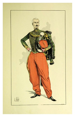 026-Oficial de guias de la guardia imperial en el II imperio-Le chic à cheval histoire pittoresque de l'équitation 1891- Louis Vallet