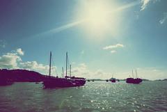 Blue sea, blue sky, blue me? (Đạt Lê) Tags: trip travel nikon wide sigma 1020 ultra lanscape d80 quảngninh hạlongbay hòngai đạtlê datphat datphat82
