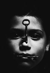 (alexis mire) Tags: portrait white black girl digital canon keys skeleton rebel 50mm eyes key shadows young 18 xsi savage