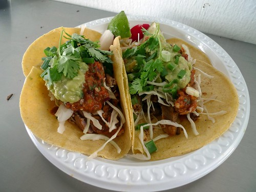 Lengua and Carnitas Tacos from Spruce Taqueria