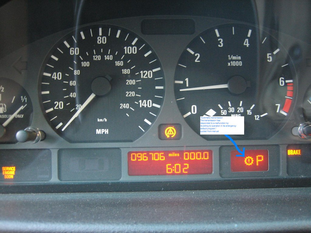 Bmw Automatic Transmission Warning Light E46
