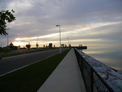 Early Morning Walk in Mackinaw City, Michigan (cseeman) Tags: morning reflection water sunrise boats still michigan calm mackinacisland lakehuron mackinacbridge straitsofmackinac mackinawcity july92010mackinawcityam