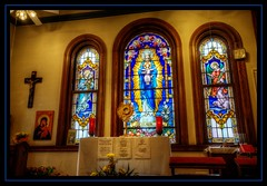 Adoration chapel at St Charles Borromeo in Providence