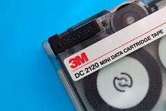 120 Mbyes of tape (ion-bogdan dumitrescu) Tags: blue red white black 3m bitzi ibdp mg3610 dc2120minidatacartridgetape 120mbytes 120megabytes ibdpro wwwibdpro ionbogdandumitrescuphotography