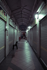 when shops are closed and i'm there doing project (L.GuoHao) Tags: light food wet coffee fashion night canon project eos singapore alone quiet market centre environmental nobody powder ann late np chong biology canonef1740mmf4lusm hawker pang ngee polytechnic yishun llens 50d canoneos50d ebio lightroom3 adobephotoshopcs5 lguohao