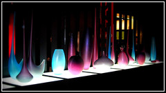 Lights (Martina_Violetta) Tags: blue light glass mobile design purple milano salone vase murano