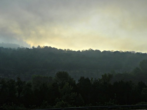 sunrise, morning fog, Kimball,  Tennessee