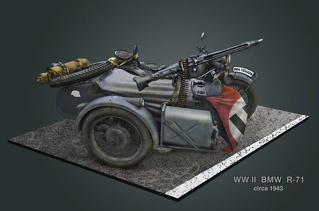 military wwii german bmw ww2 motorcycle machinegun sidecar wehrmacht mg42 r71 grossdeutschland fotocreations novaman396 galileo55