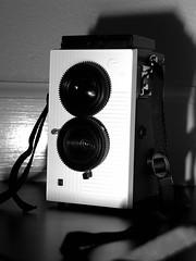 My New Toy Camera ^_^ (Latifa Al-Bokhari) Tags: camera tlr film 35mm lens toy fly reflex holga flash twin diana cheap blackbird picnik bbf