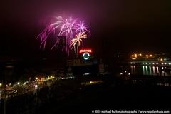 Fireworks over AT&T Park (RegularChaos) Tags: park night nikon san francisco long exposure baseball fireworks tokina giants att 70300 d90 1116