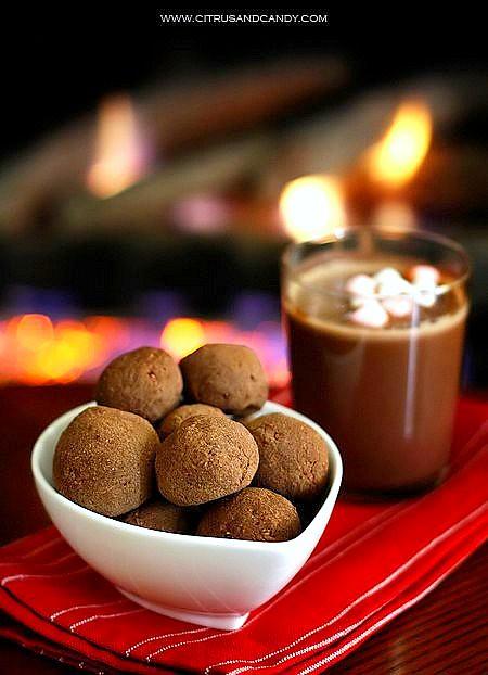 Rum Balls and Hot Chocolate