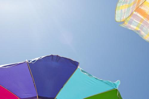 umbrella, sky