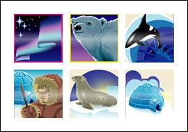 free Northern Lights slot game symbols