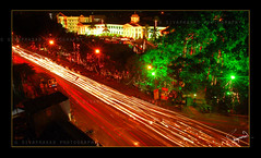 Capital River.... (g sivaprasad) Tags: red green night lights nikon slow shot g illumination kerala shutter trivandrum sivaprasad