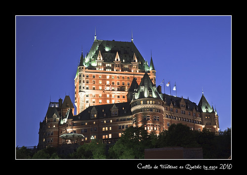 Castillo de Frontenac at night - Quebec (Canadá)
