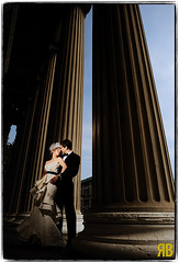 Column Like I See 'Em (Ryan Brenizer) Tags: newyorkcity wedding woman man love groom bride nikon dress manhattan romance columbiauniversity d3 punny strobist 24mmf14g