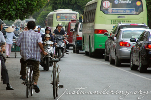 Riding in Ho Chi Minh