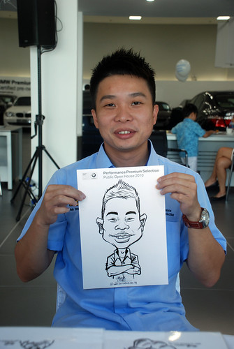 Caricature live sketching for Performance Premium Selection BMW - Day 2 - 22