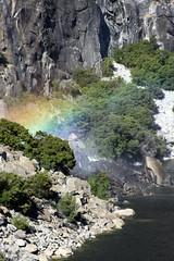 Rainbow in the Mist from Wapama Falls