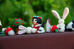 cuties (lovenichero) Tags: japanese chains phone crafts fimo figurines clay sculpey polymer