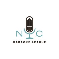 NYC karaoke (Wallace Design House) Tags: nyc color modern vintage logo design mark identity karaoke microphone league