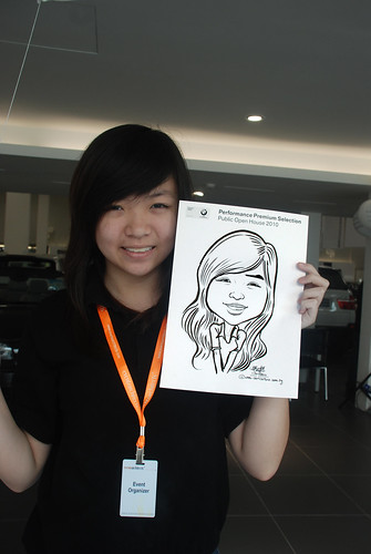 Caricature live sketching for Performance Premium Selection BMW - Day 3 - 13