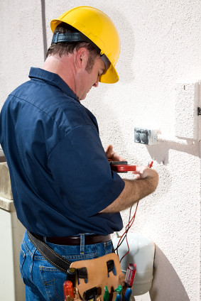 Electrician with Tools