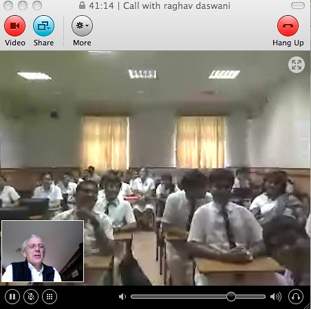 Skype call to La Martiniere