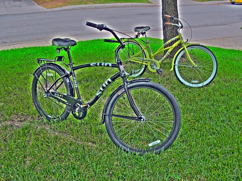 Pair of Beach Cruisers in HDR