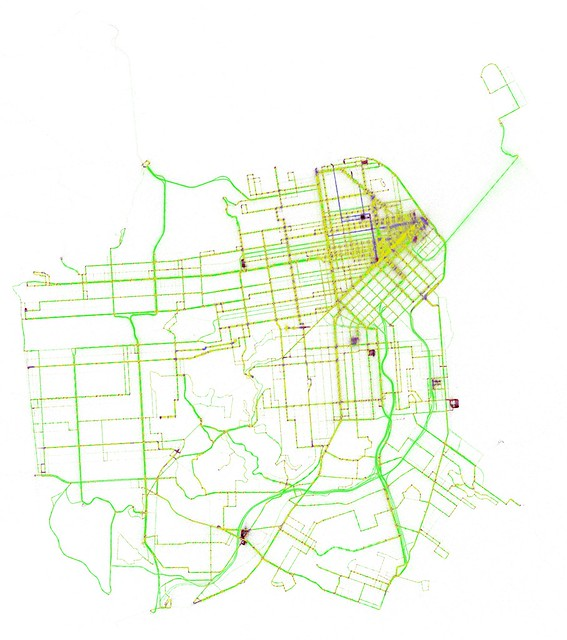 Average instantaneous Muni speed at each location