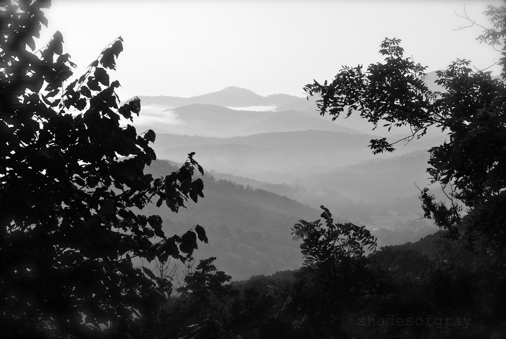 smokey mountains, black & white