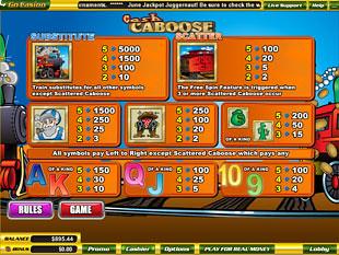 free Cash Caboose slot mini symbol