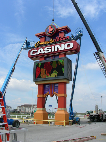 Casino Signage Install | Casino Pole Sign Install | Casino Pylon Install | Comanche Nation Casino