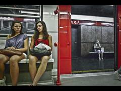 S.G. Women (v.ince) Tags: street metro milano donne atm stazione fermata lawoman linearossa