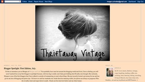 Thriftaway Vintage: Blogger Spotlight