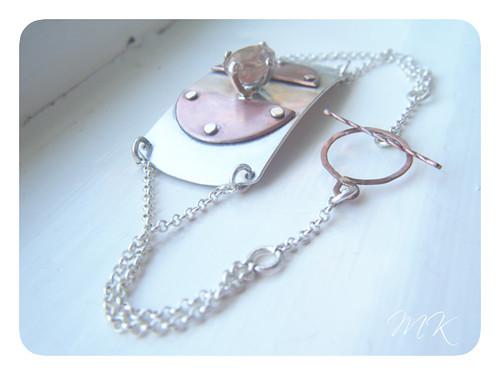 Andesine Labradorite Riveted Bracelet 3