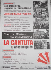 Flyer for University Events Remembering La Cantuta Massacre