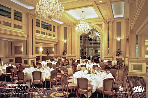 Ballroom (Dinner) at Grand Hotel Wien in Vienna