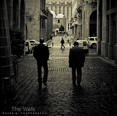 The Walk (Rayan M.) Tags: street friends blackandwhite bw lebanon monochrome sepia walking alley cityscape pedestrians thewalk beirut reminisce reminiscing    solidere   downmemorylane        rayanmphotography missingyouandwishingyouarehavingabeautifulramadaninshallahhearfromyousoon