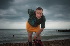 Change (AndyWilson) Tags: selfportrait beach sony changing eastbourne alpha selftimer a700 18250 notpervy wayunderexposedandrecovered