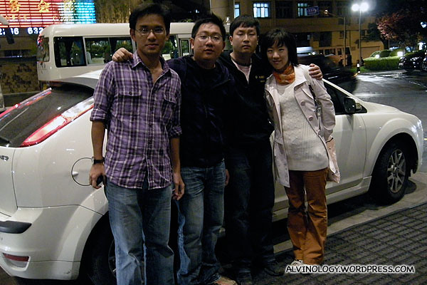(L to R): Kok Kuan, me, Xiaoyan's fiancee and her