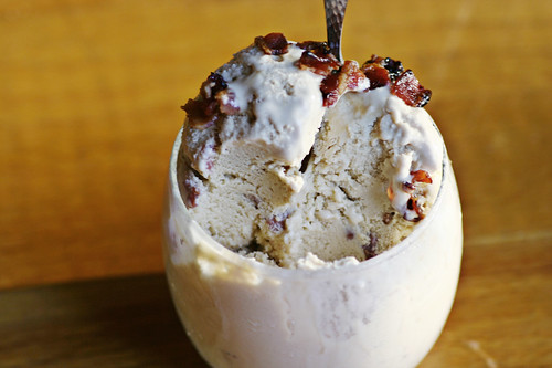 Candied bacon ice cream | savory-bites
