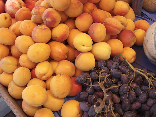 Walliser Aprikosen, Trauben