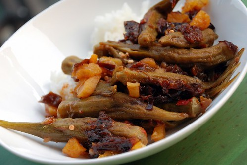 Okra with Prunes and Apricots @ The Taste Space