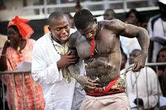 Traditional African Wrestling (Ronald de Hommel) Tags: africa black west sports muscles sport religious championship coach fight sand community muscle stadium african wrestling muslim traditional rules event most western instructions senegal dakar states tradition fighters dust fighting economic talking popular macho superstition preparation preparing superstitious primitive muscled animism sportive animist senegalese ecowas cedeao