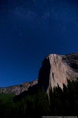 El Capitan and the Milky Way (RegularChaos) Tags: california light moon mountain night way star nikon time el tokina valley yosemite halfdome milky capitan d90 1116